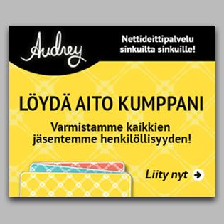 Audrey-mobiilisovelluksen mainosbanneri