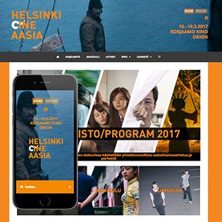 Helsinki Cine Aasia -kotisivu