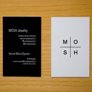MOSH Jewelry -käyntikortti