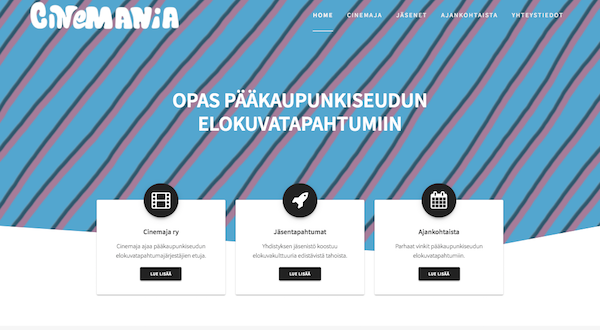 Uudistuneet cinemania.fi -kotisivut