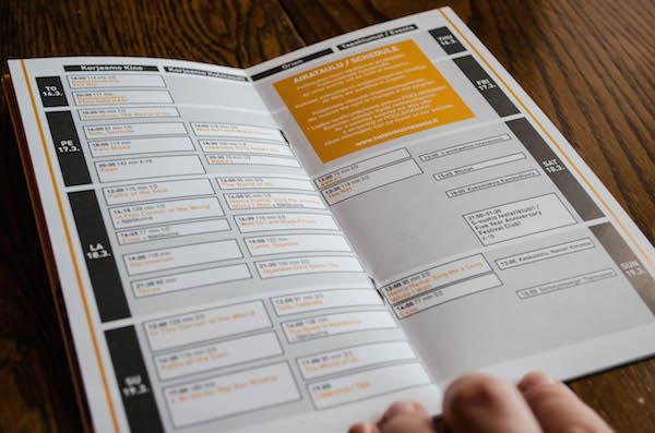 HCA17, ohjelmakartta katalogissa