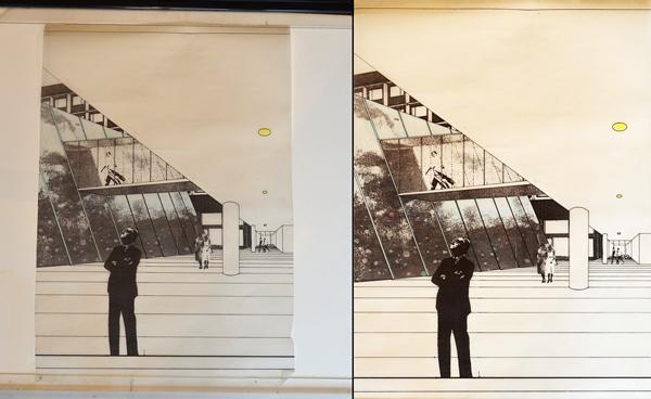 Käden jälki -projekti, arkistokuvan digitalisointi ja käsittly