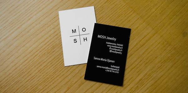 MOSH Jewelry, käyntikortti