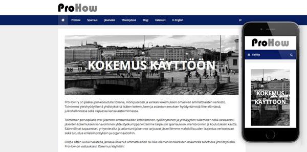 ProHow-kotisivut, etusivu