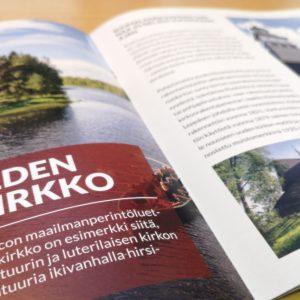 Maailmanperintökohteet Suomessa -esite