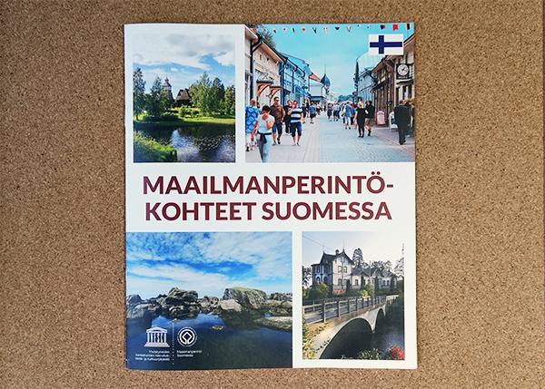Suomen maailmanperintökohteet -esitteen kansi