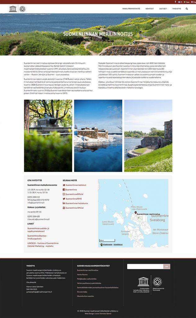 Suomen maailmanperintökohteiden sivuston kohdesivu